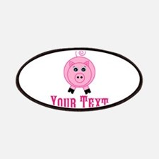 Personalizable Pink Pig Patches