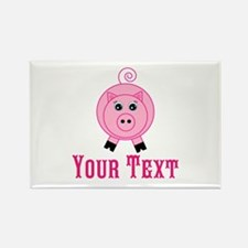 Personalizable Pink Pig Magnets