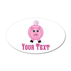 Personalizable Pink Pig Wall Decal