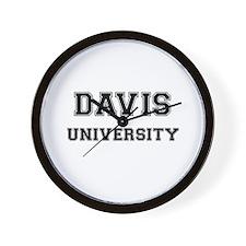 DAVIS UNIVERSITY Wall Clock