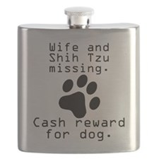 Wife And Shih Tzu Missing Flask