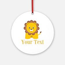 Personalizable Little Lion Ornament (Round)
