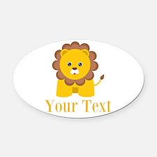 Personalizable Little Lion Oval Car Magnet