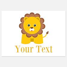 Personalizable Little Lion Invitations