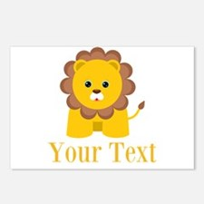Personalizable Little Lion Postcards (Package of 8
