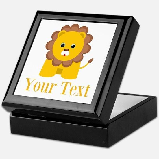 Personalizable Little Lion Keepsake Box
