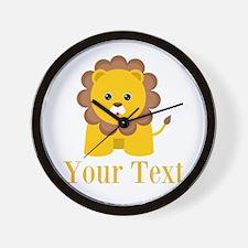 Personalizable Little Lion Wall Clock
