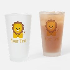 Personalizable Little Lion Drinking Glass