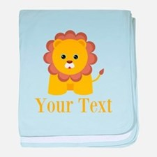 Personalizable Little Lion baby blanket
