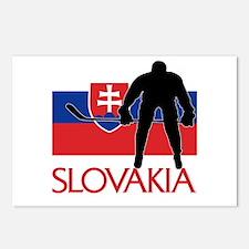 Slovakia Flag Hokey Postcards (Package of 8)