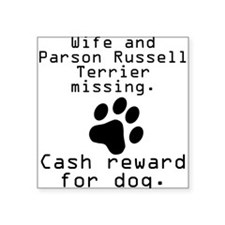 Wife And Parson Russell Terrier Missing Sticker
