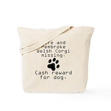 Wife And Pembroke Welsh Corgi Missing Tote Bag