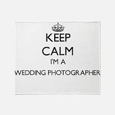 Keep calm I'm a Wedding Photographer Throw Blanket
