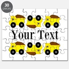 Personalizable Yellow Trucks Puzzle