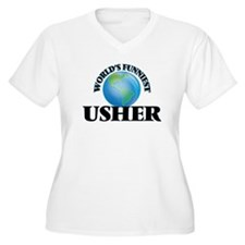 World's Funniest Usher Plus Size T-Shirt