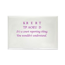 Cool Steno Rectangle Magnet (10 pack)