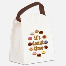 It's Donut Time Canvas Lunch Bag
