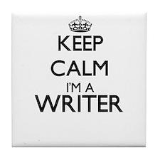 Keep calm I'm a Writer Tile Coaster