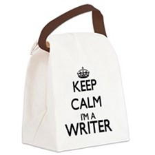 Keep calm I'm a Writer Canvas Lunch Bag