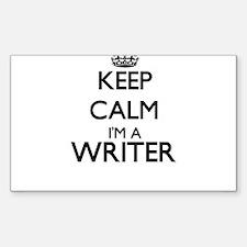 Keep calm I'm a Writer Decal