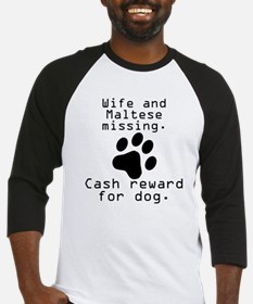 Wife And Maltese Missing Baseball Jersey