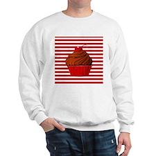 Red Brown Cupcake Stripes Sweatshirt