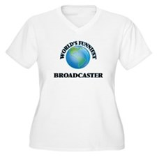 World's Funniest Broadcaster Plus Size T-Shirt