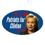 Patriots For Clinton Sticker