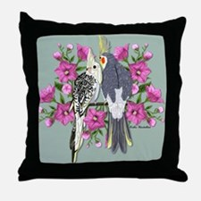 Cockatiel Mates Throw Pillow