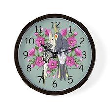 Cockatiel Mates Wall Clock