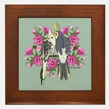 Cockatiel Mates Framed Tile