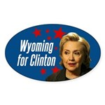 Wyoming For Clinton Sticker