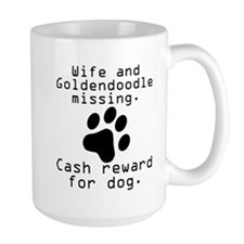 Wife And Goldendoodle Missing Mugs
