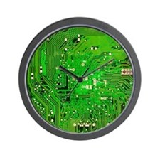 Circuit Board - Green Wall Clock