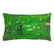 Circuit Board - Green Pillow Case