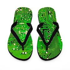 Circuit Board - Green Flip Flops