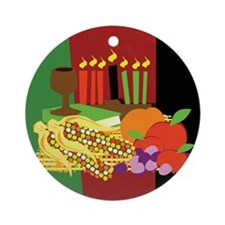 Kwanzaa Design Ornament (Round)