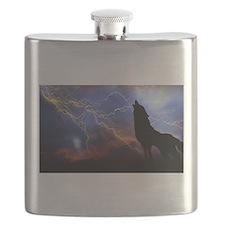 lighting wolf Flask