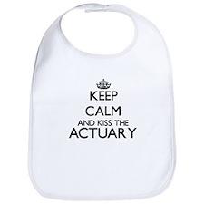 Keep calm and kiss the Actuary Bib