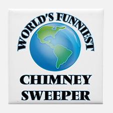 World's Funniest Chimney Sweeper Tile Coaster