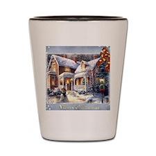 Merry Christmas snowglobe Shot Glass