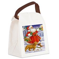 Santa, Lion and lamb Canvas Lunch Bag