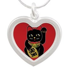 00-mnBlack-button Necklaces