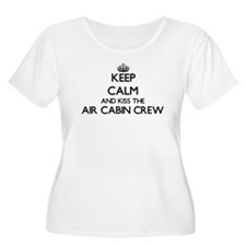 Keep calm and kiss the Air Cabin Plus Size T-Shirt