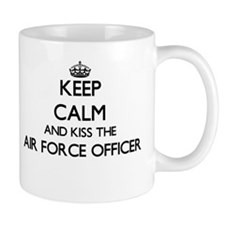 Keep calm and kiss the Air Force Officer Mugs