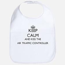 Keep calm and kiss the Air Traffic Controller Bib