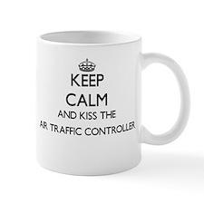 Keep calm and kiss the Air Traffic Controller Mugs