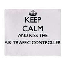 Keep calm and kiss the Air Traffic C Throw Blanket