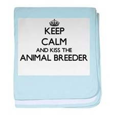 Keep calm and kiss the Animal Breeder baby blanket