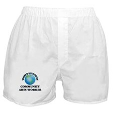 World's Funniest Community Arts Worke Boxer Shorts